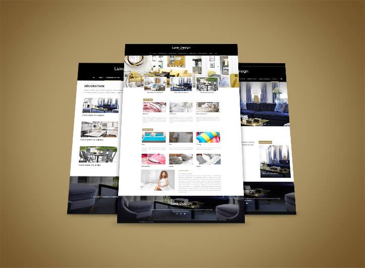 Luxe Design : site web